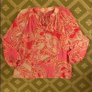 Lilly Pulitzer pink elephant cheetah Elsa top